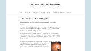 Complete your Supervision Online! Karen Kerschmann, LCSW
